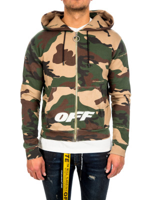 Off White camou zip hoodie 428-00262
