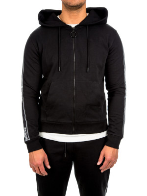Off White stripe zip hoodie black 428-00263