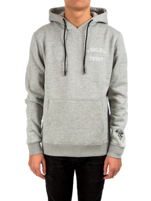 IN GOLD WE TRUST  full embo hoodie grey 428-00270