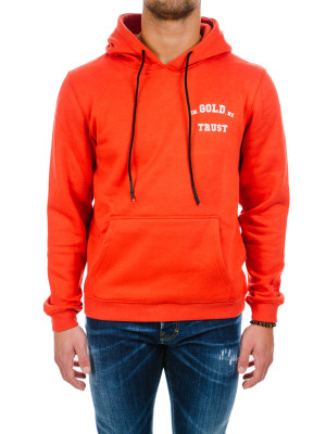 IN GOLD WE TRUST  red orange hoodie orange 428-00300