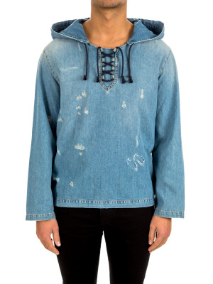 Saint Laurent hoodie denim destroy 428-00348