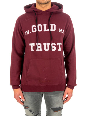 IN GOLD WE TRUST hoodie washed fade logo 428-00486