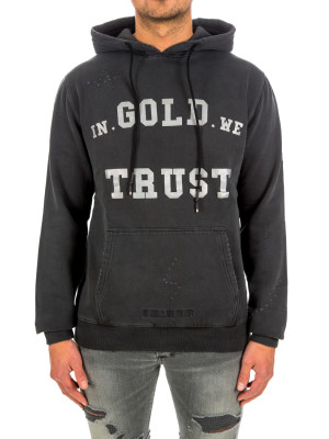 IN GOLD WE TRUST hoodie washed fade logo 428-00487