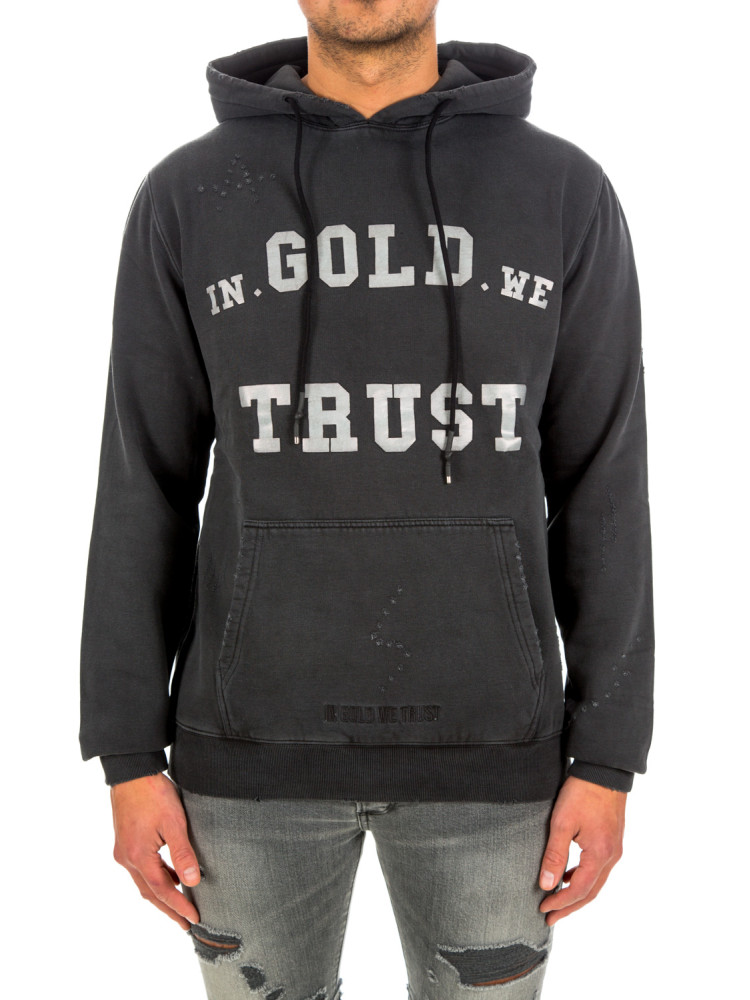 IN GOLD WE TRUST IN GOLD WE TRUST hoodie washed fade logo