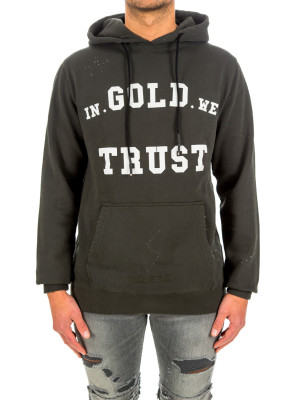 IN GOLD WE TRUST hoodie washed fade logo 428-00488