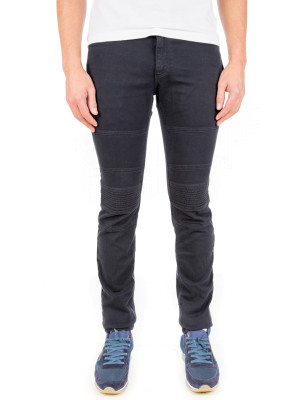 neil barrett woven trousers blue 430-00466