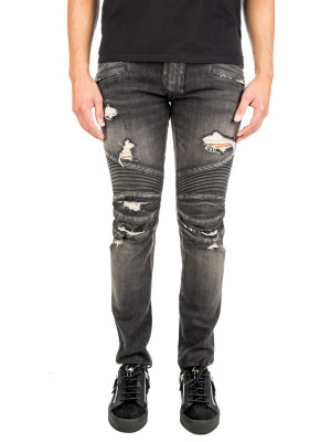 Balmain jean biker distressed black 430-00531