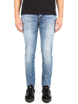 Saint Laurent Paris skinny 5 pk low wais blue 430-00543