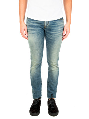 Saint Laurent skinny 5 pockets low blue 430-00582