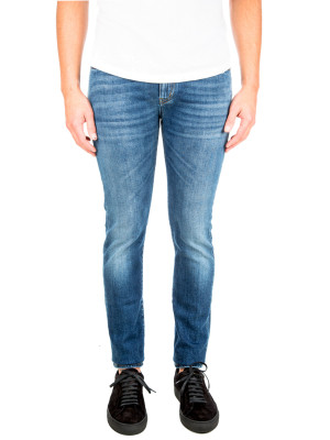 Saint Laurent skinny 5 pockets low blue 430-00583