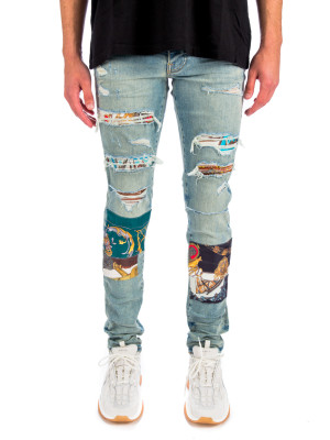 Amiri scarves art patch jean 430-00913