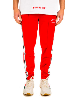 IN GOLD WE TRUST  logo trackpants 431-00175