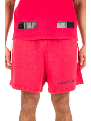 Off White champion shorts red 432-00028