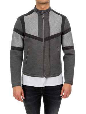 neil barrett woven jacket grey 440-00329