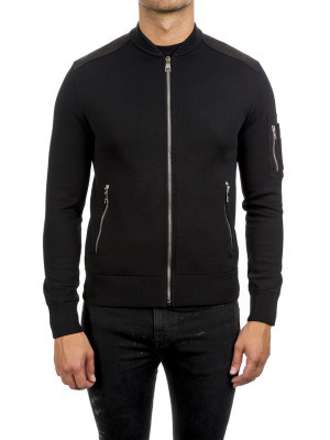 neil barrett knit jacket black