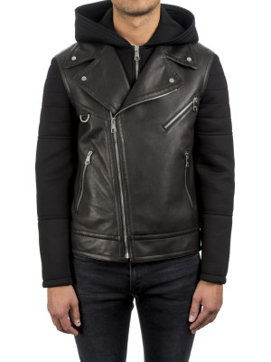 neil barrett woven jacket black 440-00462