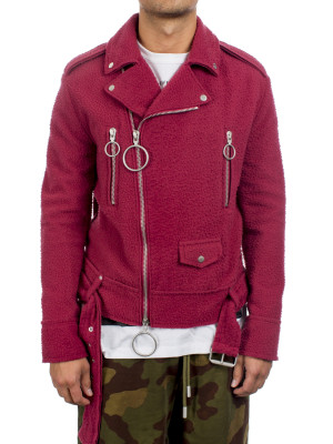 Off White wool biker crimson 440-00498