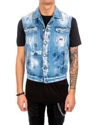 Dsquared2 jean vest blue 440-00513
