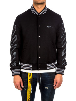 Off White diag 3d line varsity black 440-00580