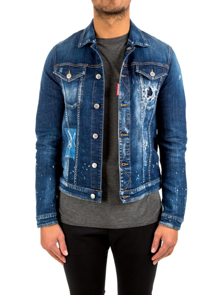 Dsquared2 classic jean jacket Dsquared2 Classic Jean Jacketblauw -  www.credomen.com - Credomen 80c601fd981f