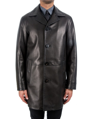 Leather Carcoat black 441-00111