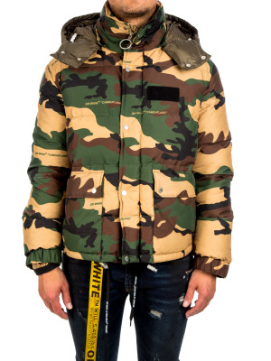 Off White camou puffer multi 442-00105