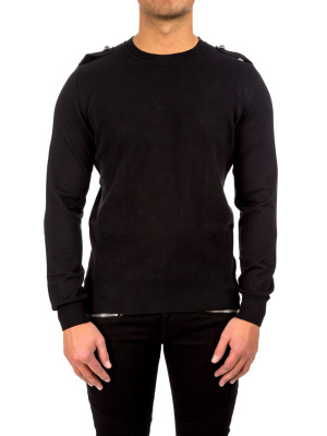 Balmain pull a point pique black 454-00271