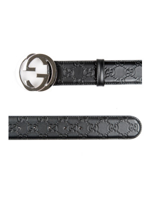 Gucci man belt h.40 gucci sign black 463-00183