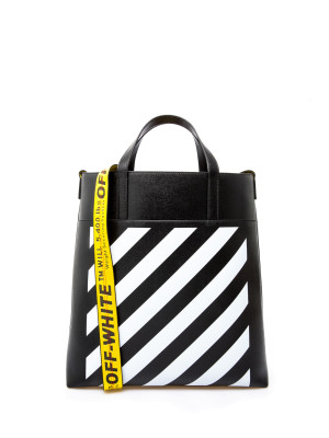 Off White diag leather tote