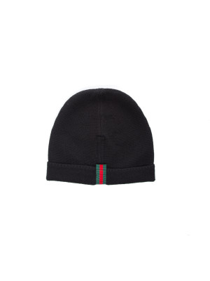 Gucci hat knit black 467-00081