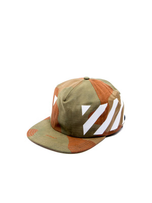Off White diag camou cap green 468-00192
