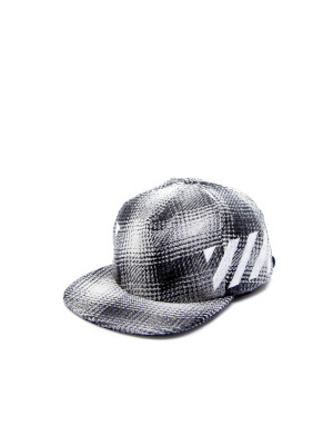 Off White diag white check cap multi 468-00193