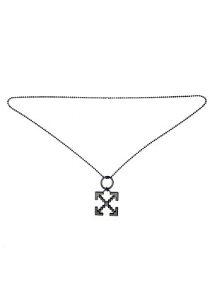 Off White scaffolding necklac