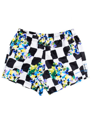 Off White check flowers swimsh 470-00534