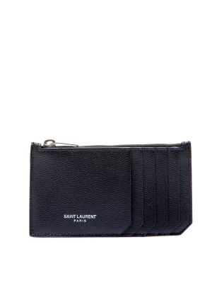 Saint Laurent Paris ysl credit card holder black 472-00018