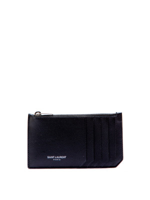 Saint Laurent Paris ysl credit card holder 132 black 472-00031